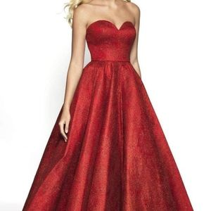Sparkly Red Ballgown by Blush